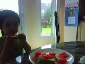 Daliyah eating a watermelon2