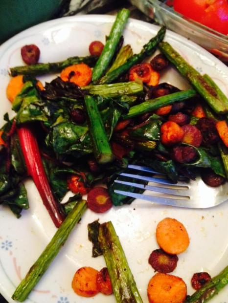 SwissChardRainbow_Carrots_Asparagusgrilled