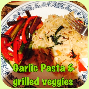 Grilled Pasta & Grilled Veggies